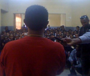 Teddy Afro visiting his Elementary School