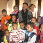 TeddyAfro with Dallas area Ethiopian Kids